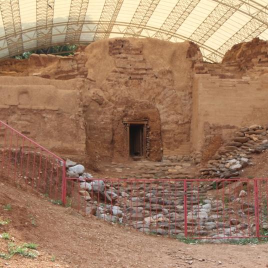 Tel-Dan-mudbrick-gate-dig